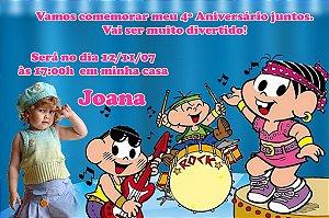 Convite digital personalizado Turma da Mônica com foto 024