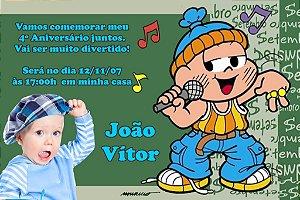 Convite digital personalizado Turma da Mônica com foto 028