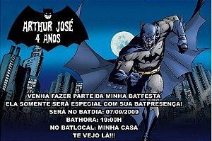 Convite digital personalizado Batman 001