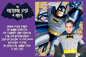 Convite digital personalizado Batman com foto 006