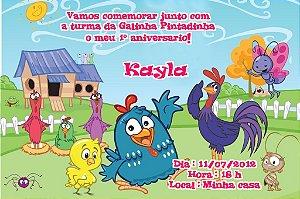 Convite digital personalizado da Galinha Pintadinha 004