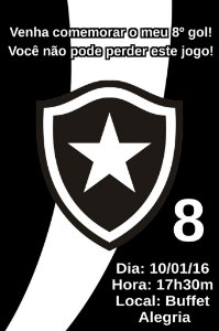 Convite digital personalizado Botafogo 001