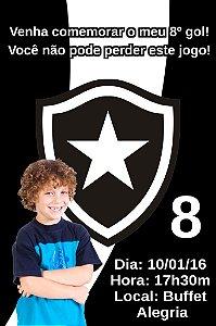 Convite digital personalizado Botafogo com foto 001