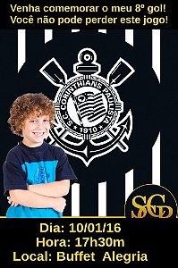 Convite digital personalizado Corinthians com foto 001
