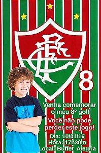 Convite digital personalizado Fluminense com foto 001