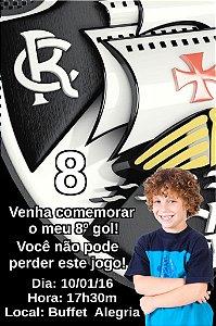 Convite digital personalizado Vasco com foto 001