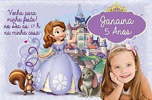 Convite digital personalizado Princesa Sofia com foto 005