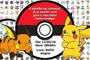 Convite digital personalizado Pokemón 002