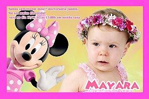 Convite digital personalizado da Casa do Mickey Mouse com foto 002