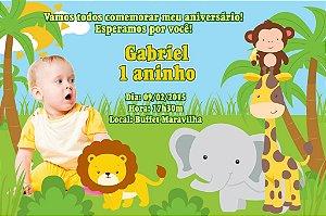 Convite digital personalizado Floresta Encantada com foto 002