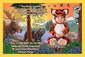 Convite digital personalizado Floresta Encantada com foto 005