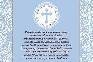 Convite digital personalizado Batizado 036