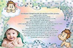 Convite digital personalizado Batizado com foto 001