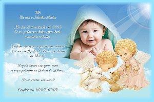 Convite digital personalizado Batizado com foto 003