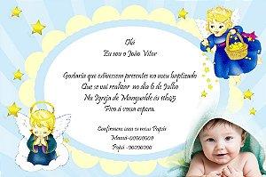 Convite digital personalizado Batizado com foto 011