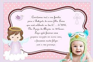 Convite digital personalizado Batizado com foto 012