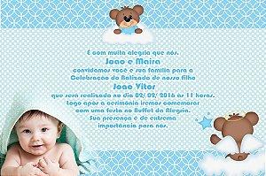 Convite digital personalizado Batizado com foto 016