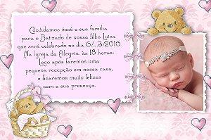 Convite digital personalizado Batizado com foto 027