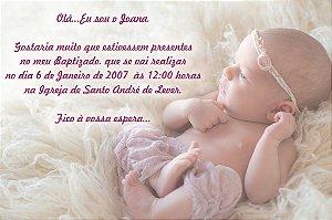 Convite digital personalizado Batizado com foto 028