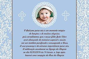 Convite digital personalizado Batizado com foto 036