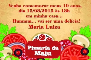 Convite digital personalizado Pizza 001