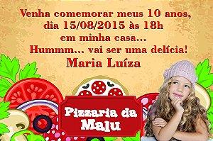 Convite digital personalizado Pizza com foto 001