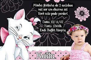 Convite digital personalizado da Gatinha Marie com foto 004