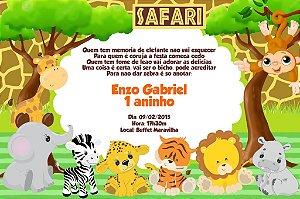 Convite digital personalizado Safari 001
