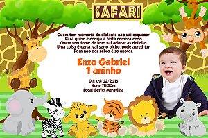 Convite digital personalizado Safari com foto 001