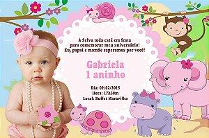 Convite digital personalizado Safari com foto 002