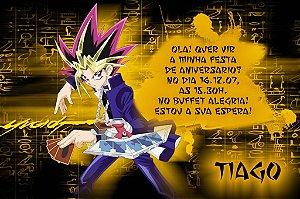 Convite digital personalizado Yu-Gi-Oh! 001