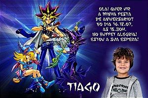 Convite digital personalizado Yu-Gi-Oh! com foto 002