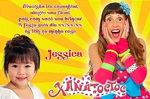 Convite digital personalizado Xana Toc Toc com foto 004