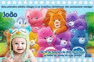 Convite digital personalizado Ursinhos Carinhosos com foto 004
