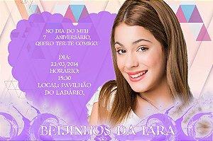 Convite digital personalizado Violetta da Disney 001