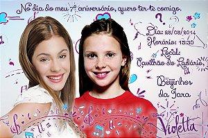 Convite digital personalizado Violetta da Disney com foto 004