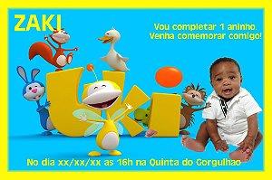 Convite digital personalizado Uki com foto 001