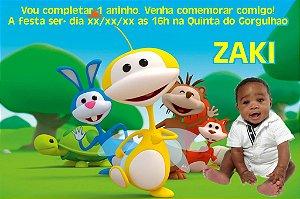 Convite digital personalizado Uki com foto 002