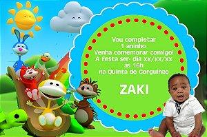Convite digital personalizado Uki com foto 003