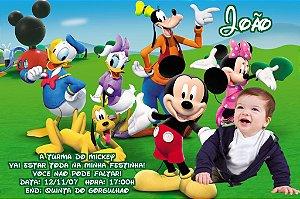 Convite digital personalizado Turma do Mickey com foto 004