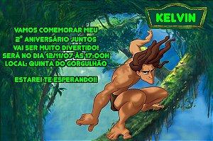 Convite digital personalizado Tarzan 001