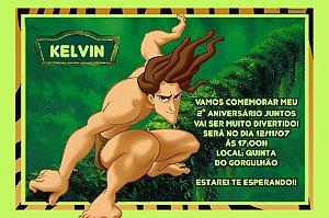 Convite digital personalizado Tarzan 002