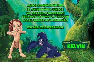 Convite digital personalizado Tarzan 003