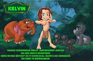 Convite digital personalizado Tarzan 004