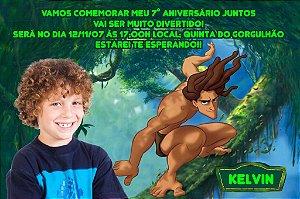 Convite digital personalizado Tarzan com foto 001