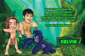 Convite digital personalizado Tarzan com foto 003