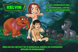 Convite digital personalizado Tarzan com foto 004