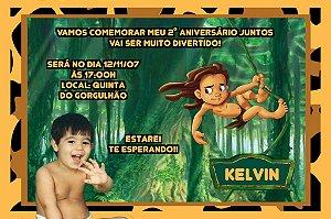 Convite digital personalizado Tarzan com foto 006