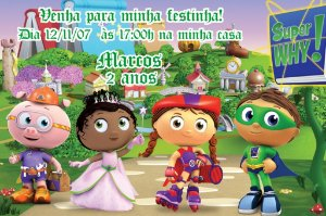 Convite digital personalizado Super Why 003