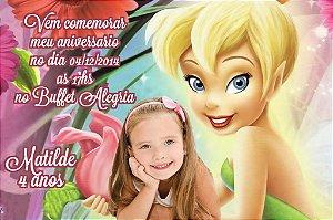 Convite digital personalizado Sininho com foto 021